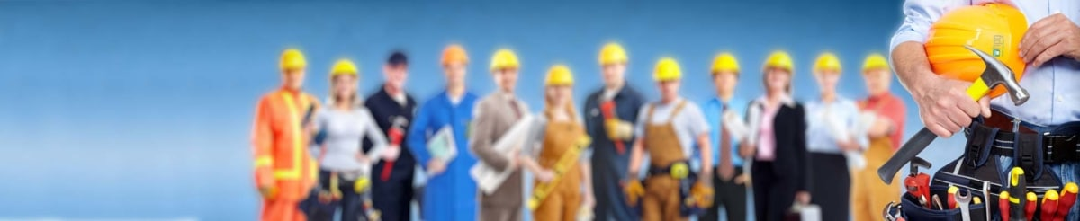 HPG Insurance & Maintenance Works - property repairs image of various people who work in the building industry.